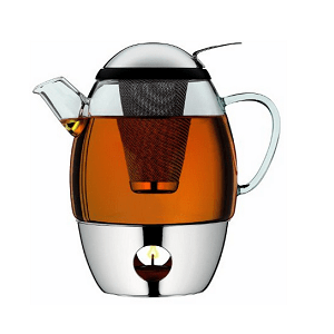 tea pot with integrated tea egg