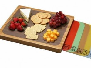 bamboo cutting board with replacable mats