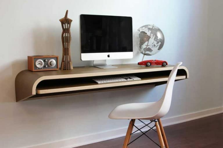floating extendable wall desk