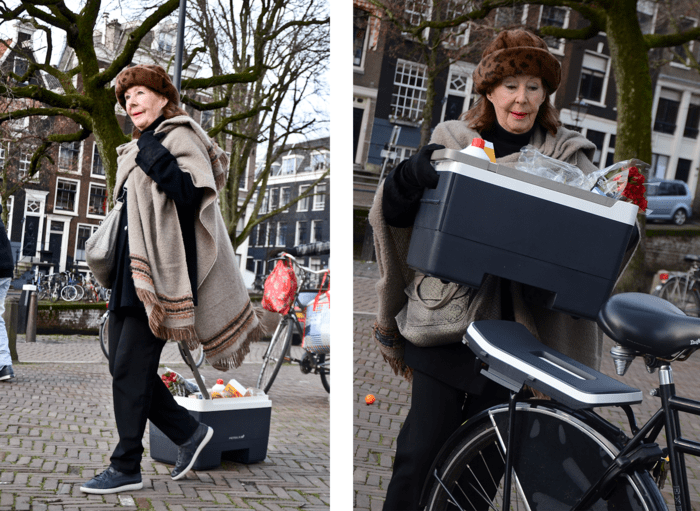 transform your bicycle cargo crate to a convenient shopping cart
