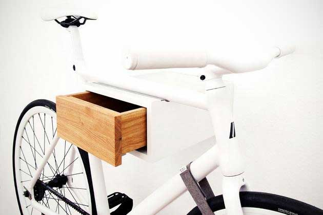 Tian-elegant-white-bike-rack