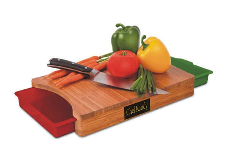 FINAL TOUCH Slice n' Slide-3 Piece Bamboo Cutting Board Set