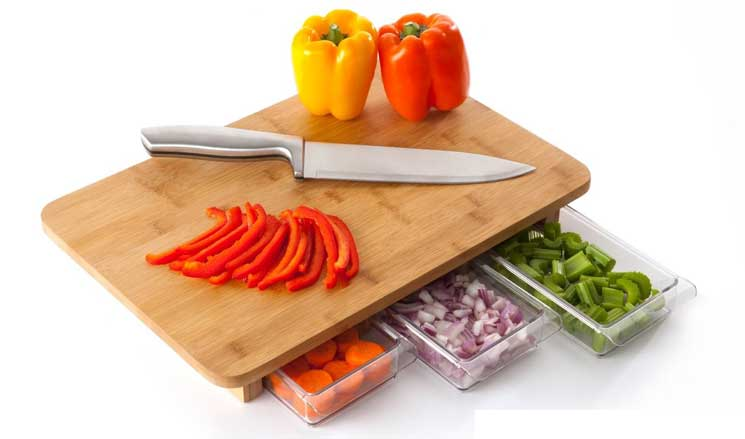 Mocubo storage cutting board