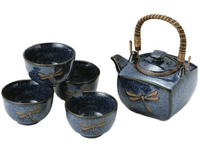 Japanese-Dragonfly-Tea-Pot-and-Tea-Cups-Set