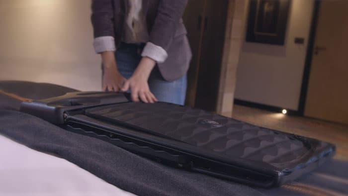 optional GPS lets you track your lost luggage