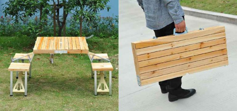 lightweight portable picnic table