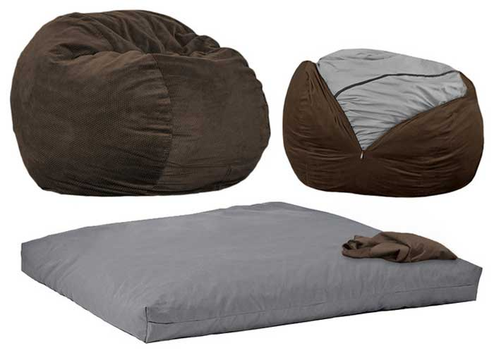 transitional beanbag chair