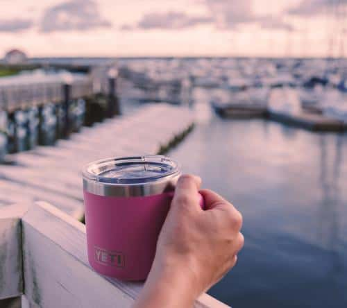 insulated mug with lid, a great gift idea for people who are always cold