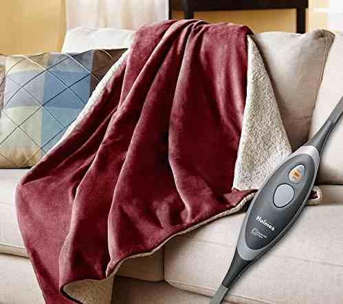 a heated throw warms people who are always cold