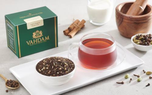 traditional Indian blend of Assam black tea and aromatic spices