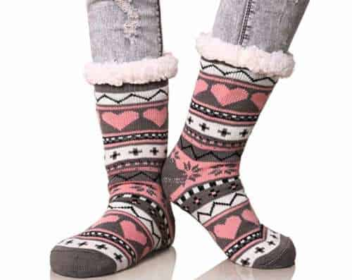 thick, thermal, fuzzy socks