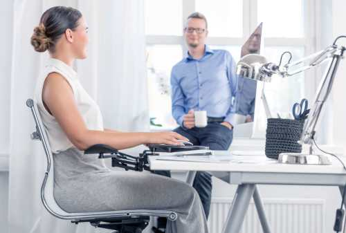 ErgoRest fore arm support reduces the workload