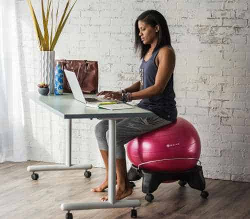 less back pain, stiff hips and other discomfort from sitting all day
