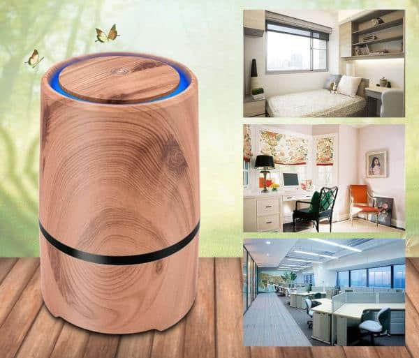 portable air purifier for travel, the office, and at home
