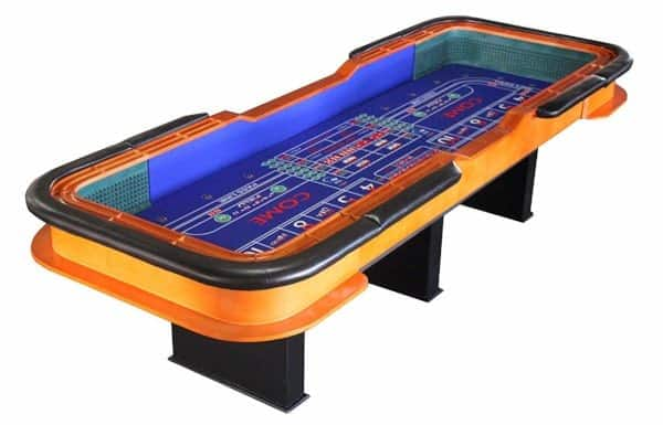 high quality craps table with full drink rail