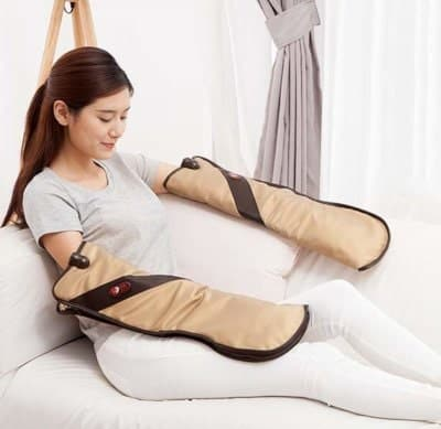 heated vibration massager for hands and other body parts