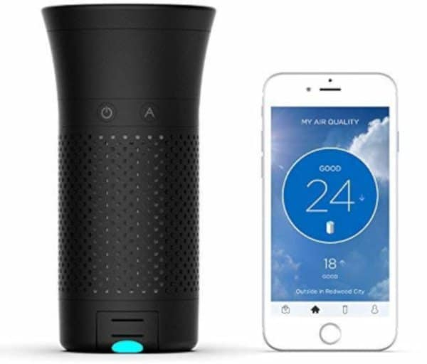 with detachable air quality tracker