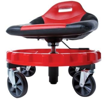 mobile gear seat swivels 360 degrees for easy reaching of tools and parts