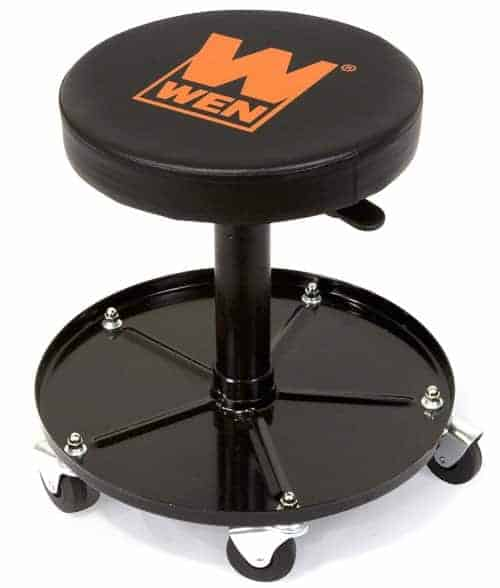 mechanic stool with parts tray