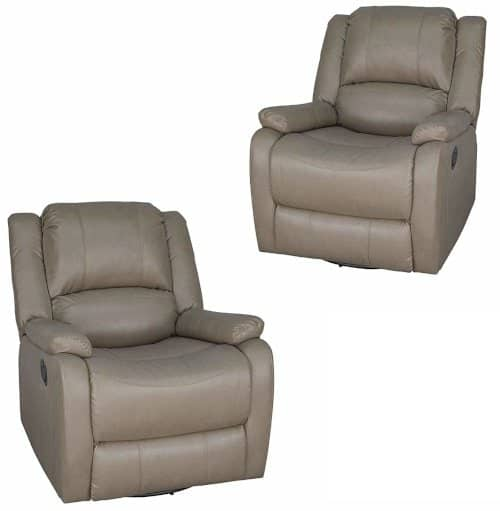 RV recliner slide out theater seats