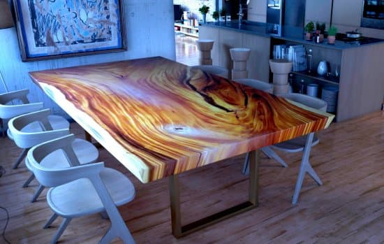 Popular Live Edge Tables Epoxy Resin Natural Wood Tables