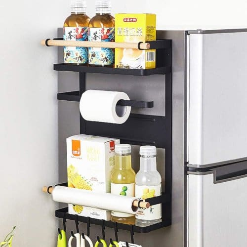 magnetic fridge side wall storage rack