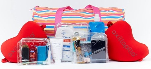 mastectomy gift bag includes 2 axillapilla comfort pillows drain Care Kit