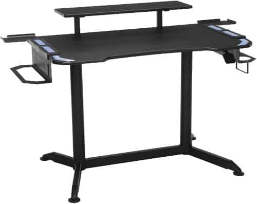 workstation with ergonomic beveled front edge